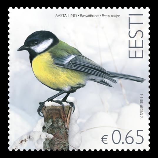 Briefe Für Briefmarke : Kohlmeisen briefmarke für briefe erhältlich looduskalender